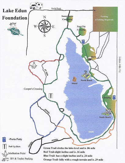 Map of Lake Edun